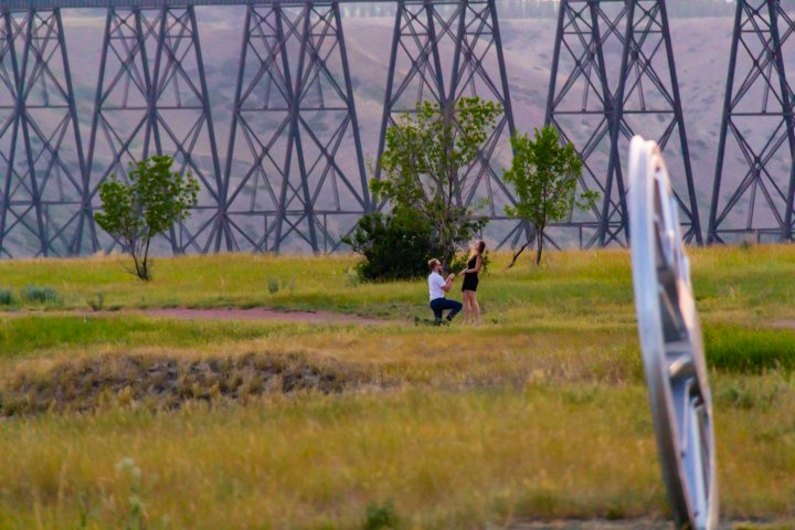 Caught in the coulees: Lethbridge photographer accidently captures picture-perfect moment