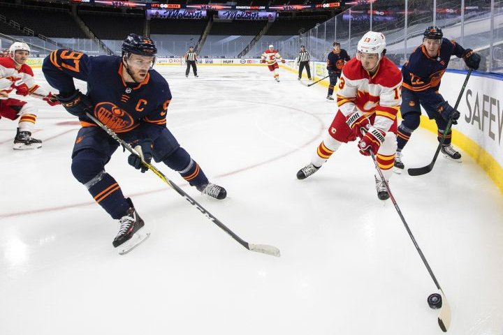 Edmonton Oilers announce team's 2021 pre-season schedule, including games against Flames, Kraken