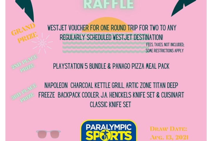 Paralympic Sports Association Sizzling Summer Raffle!