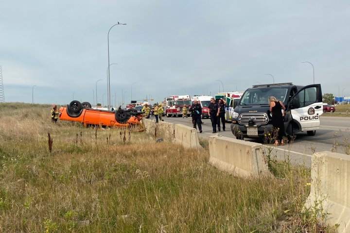 Driver tried to flee after Glenmore Trail rollover: Calgary police
