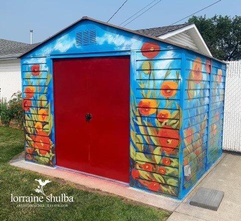 Edmonton artist uses talents to brighten up neighbourhoods