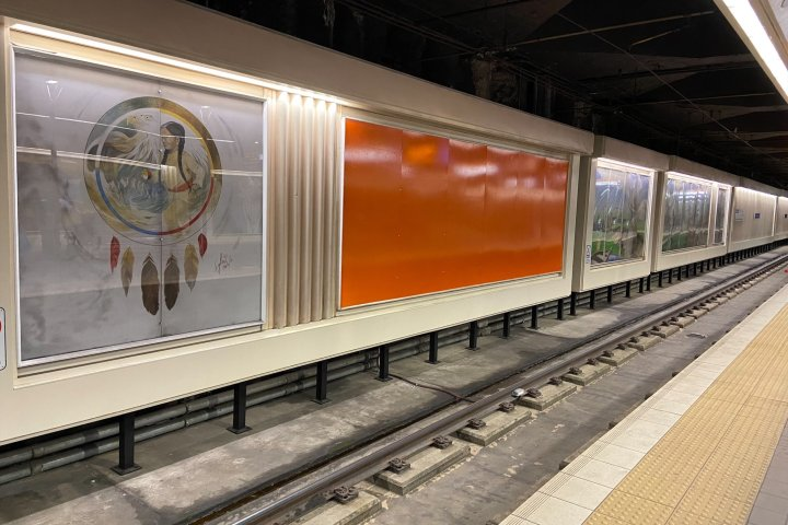 Mural at old Grandin LRT Station to be removed this fall