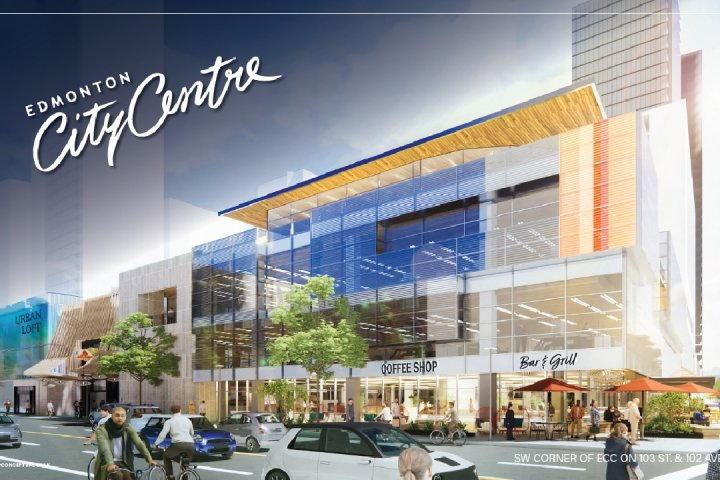 Renderings show redesigned City Centre Mall in downtown Edmonton