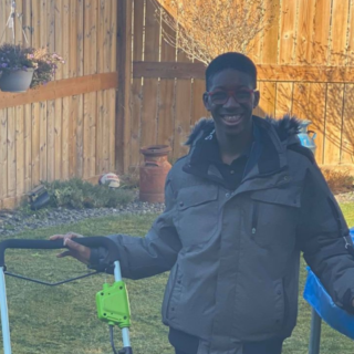 14-year-old Edmonton boy with autism gains community support with lawn care business