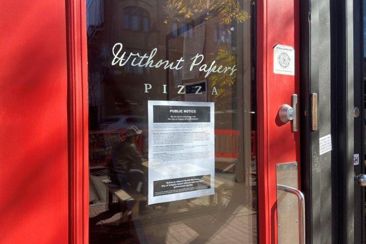 Calgary restaurant loses business, liquor licences over refusal to implement vaccine passport