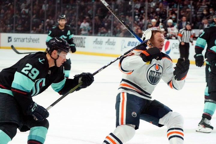 Edmonton Oilers fall in OT to Kraken